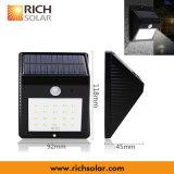 능률적인 태양 벽 램프 LED 빛