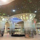 Prix usine en aluminium suspendu par matériau d'enduit de pouvoir de plafond de tuile perforée de plafond de construction/de plafond en métal de panneau ISO9001