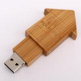 나무로 되는 USB 지팡이 Thumbdrive 플래시 메모리 회전대 USB 섬광 드라이브