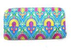 Fashion teints et tissu brodé Wallet pour les femmes