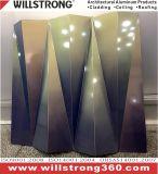 El panel compuesto plástico de aluminio del final negro del espejo para construir Fassade