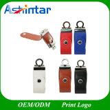 Stock-Schlüsselkette USB-grelle Platte-Leder USB-Blitz-Laufwerk des MetallUSB3.0