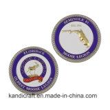Commerce de gros défi souvenir personnalisé Coin Shopping Keyholder en alliage de zinc