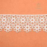 Macrame Químico Guipure Lace Milk Silk Polyester Lace
