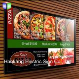 가벼운 상자를 광고하는 벽 메뉴 널을%s LED 알루미늄 스냅 액자