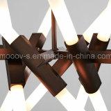 Transformateurs réglables et rotatifs européens Metal Branch Glass Pipe LED Herberbone Fork Pendant Pendant
