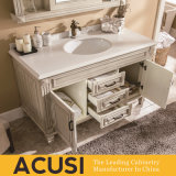 Новой Американской простом стиле массивной древесины туалетный столик в ванной комнате (ACS1-W45)