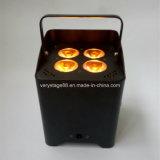 IGUALDAD sin hilos Uplight de la boda de la batería DMX del LED 4*18W RGBWA+UV 6in1