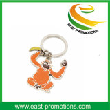 Recuerdo animal popular de encargo Keychain del metal