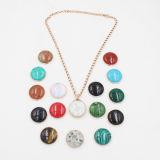 Rosen-Vergoldung-auswechselbare Edelstahl-Anhänger-Halskette