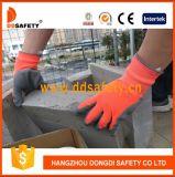 Ddsafety 2017 orange graue Latex-Neonnylonhandschuhe mit der Windung beendet