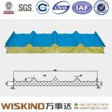 Изолированная панель крыши сандвича Rockwool пожаробезопасного цвета стальная