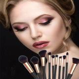Nuova alta qualità brevettata dieci parti delle estetiche di trucco della spazzola della spazzola facciale della polvere