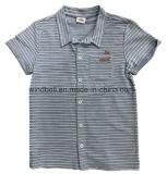 Рубашка втулки Shor краски пряжи для мальчика при обращенная ткань