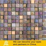 Mosaico di vetro dorato della miscela di pietra del mosaico con il trattamento del metallo