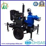Dieselmotor en de Elektrische Self-Priming Pomp van het Water van het Afval van de Riolering Centrifugaal
