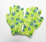 Перчатки работы Sanjian 13gauge красивейшие напечатанные Anti-Slip домашние