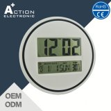 Relógio de parede LCD digital com calendário e Opcional controlado por rádio
