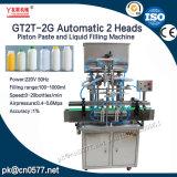 Het automatische Deeg van de Zuiger van 2 Hoofden en Vloeibare het Vullen Machine voor Boter (GT2T-2G)