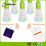 Birne Alexa/Google der UL-Zustimmungs-RGBW LED steuern/Tuya APP gesteuerte WiFi intelligente LED Glühlampe automatisch an