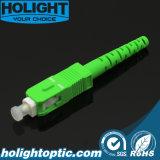 Groen APC 3.0mm van Sc van de Schakelaar van de optische Vezel