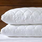 Penas acolchoados e reforço para baixo padrão de almofadas de cama tamanho Queen/Branco