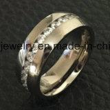 Ring de Van uitstekende kwaliteit van Jewellry van het Titanium van 9 Stenen van de Juwelen van Shineme (TR1871)