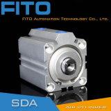 Компактный двойник Sda40*16 действуя/одиночный действующий пневматический цилиндр 12mm до 100mm воздуха