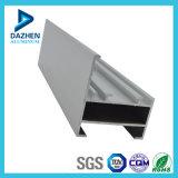 Profil en aluminium d'extrusion de porte en aluminium argentée de tissu pour rideaux anodisé 6063 par T5