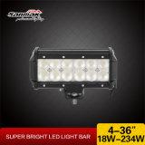 Offroad를 위한 표시등 막대를 일해 4inch 18W 크리 말 LED