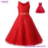 Rote Blumen-Mädchen-Kleider der Prinzessin-Kids First Communion Gowns
