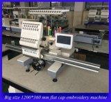 Función multi del bordado de la área extensa de la máquina de la sola de la pista 15 de la aguja del ordenador máquina plana del bordado para el bordado plano Ho1501L de la camiseta del casquillo