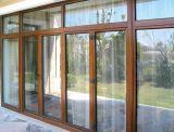 두 배 강화 유리 열 틈 나무와 알루미늄 여닫이 창 문