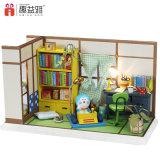 Los mini muebles de madera, en la Sala de Estudio de bricolaje juguete
