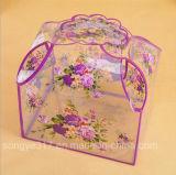 Rectángulo púrpura de encargo de la mano del PVC Rose