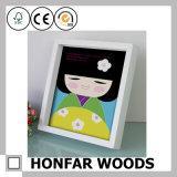 Frame de retrato da caixa de sombra da madeira contínua para a decoração