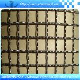 装飾的なステンレス鋼のひだを付けられた編まれた網