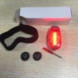 Taschenlampen-Fahrrad-Endstück-Licht des 5 LED-im Freiensicherheits-warnendes Klipp-LED für das laufende Sport-Komprimieren