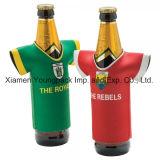 Promotionnels imprimés personnalisés pliable T-shirt en néoprène et des sports en forme de Jersey Stubby Refroidisseur de bouteille de bière