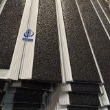 Anti-Slip 까만 카보런덤 삽입 알루미늄 합금 기초 층계 보행