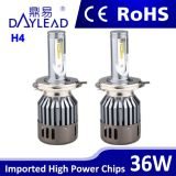 Nuovi fari di alto potere H4 6000k LED di disegno con il fascio di Hi/Lo