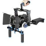 Impianto di perforazione universale del supporto della spalla della macchina fotografica del video dell'impugnatura dell'ABS per le videocamere portatili di DSLR