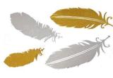 Цветка пера золота стикер Tattoo цепного металлический водоустойчивый временно