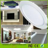 Los Estados Unidos Venta caliente 6W 12W 18W blanco cálido, 110-130V de la luz de panel LED regulable