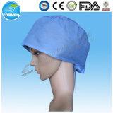 Non-Woven SMSの外科帽子、外科医の帽子、使い捨て可能な帽子