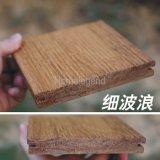 Revêtement de sol en bambou à l'extérieur en bois carbonisé naturel populaire