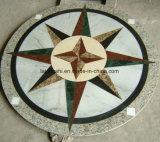 ホテルのプロジェクトのロビーの床のための物質的で自然な大理石のWaterjet丸型の円形浮彫り