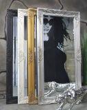 Commerce de gros antique forme encadrée miroir mural décoratifs en bois