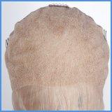 Peluca llena india del cordón del pelo humano de la onda rubia de la carrocería