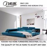 Het blauwe Bed van de Stof van de Kleur voor het Gebruik van de Slaapkamer (FB8001)